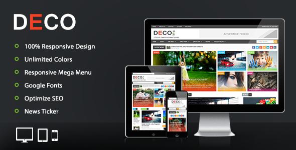 Deco Mag - Template tạp chí responsive blogger