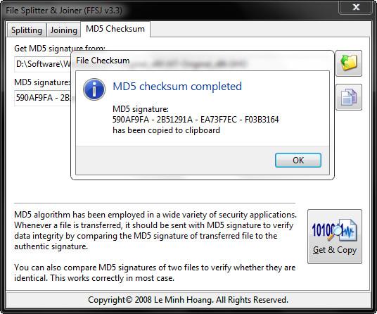Hướng dẫn check MD5 của tất cả các file bằng FFSJ (2)
