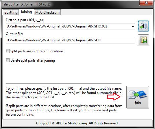 Hướng dẫn ghép file định dạng .001, .002 ,.. bằng FFSJ (2)
