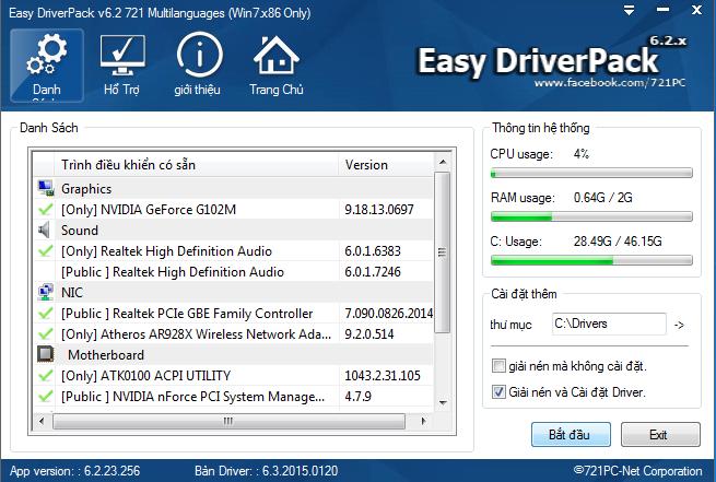Tải Wandrv 6.3 mới nhất - Bộ driver offline đầy đủ
