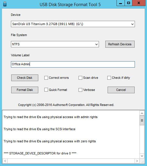 Hướng dẫn sửa lỗi USB bị mất dung lượng sau khi format