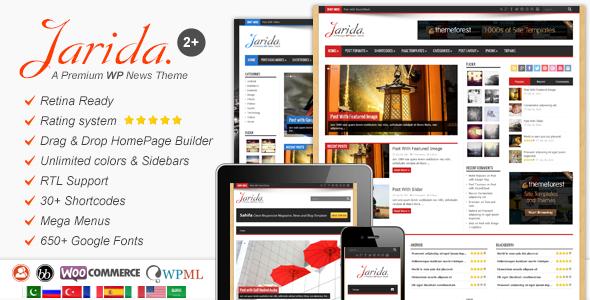 Chia sẻ theme WordPress Jarida cho site tin tức, blog