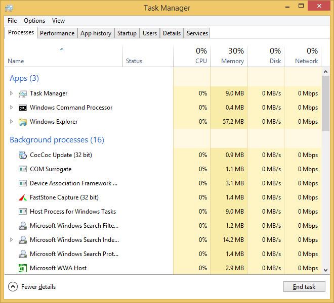 Cách khắc phục lỗi 100% disk Windows 8 (4)