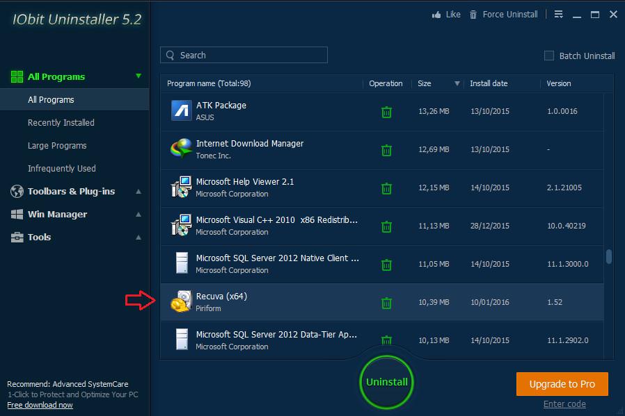 Hướng dẫn gỡ bỏ phần mềm triệt để với IObit Uninstaller (3)
