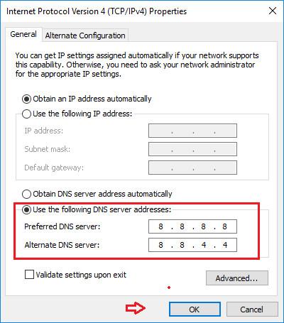 Hướng dẫn đổi DNS Google để truy cập website bị chặn