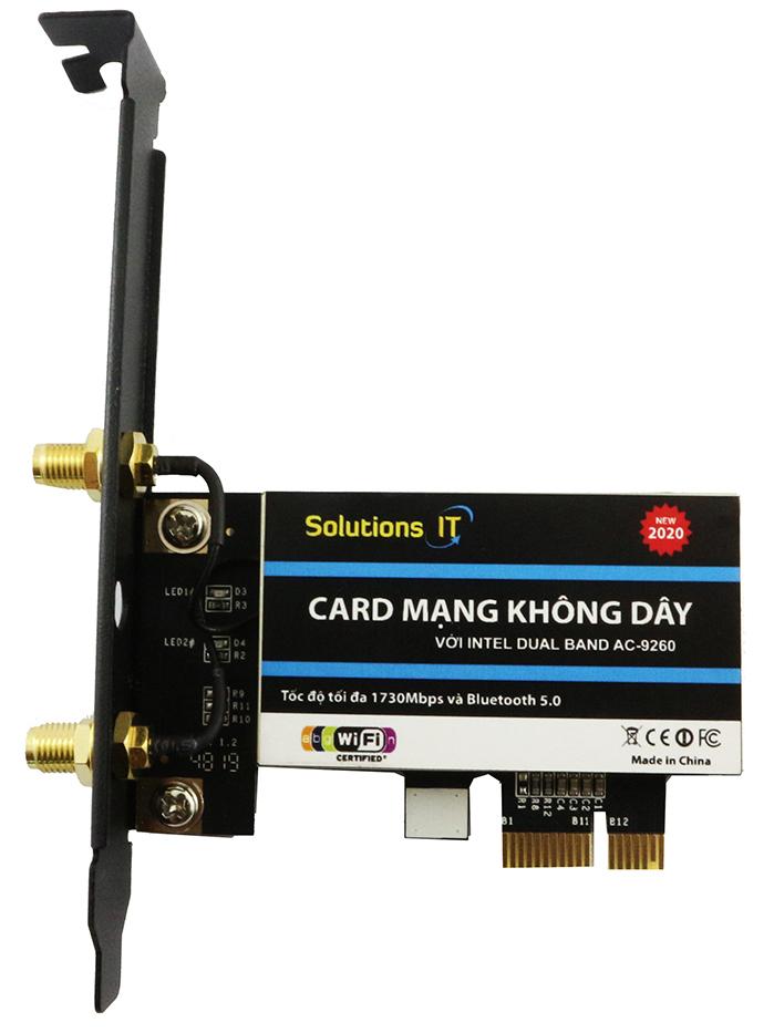 Card WIFI Intel AC-9260  tốc độ tối đa 1730M và Bluetooth 5.0