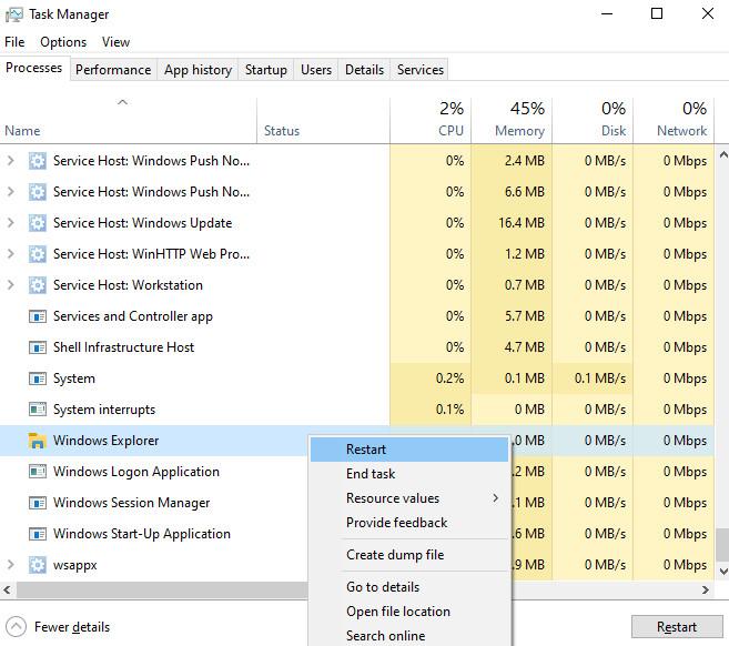 Cách sửa lỗi Taskbar bị treo làm máy đơ trong Windows 10